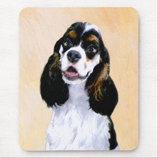 Cocker Spaniel (Parti) Painting - Original Dog Art Mouse Pad