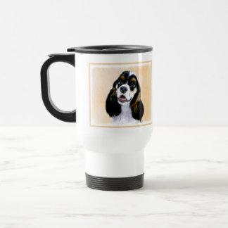 Cocker Spaniel (Parti) Painting - Original Dog Art Travel Mug