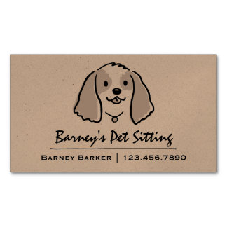 Cocker Spaniel | Pet Sitter | Animal Care Magnetic Business Card