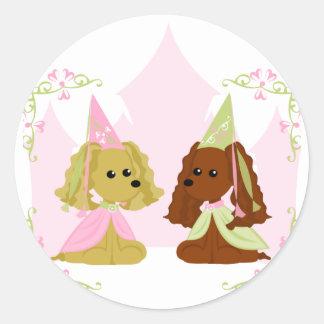 Cocker Spaniel Princess Classic Round Sticker