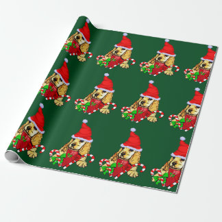 Cocker Spaniel Puppy Christmas Wrapping Paper