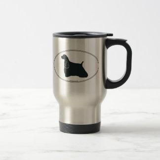 Cocker Spaniel Silhouette Travel Mug