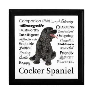 Cocker Spaniel Traits Keepsake Box