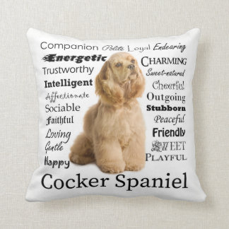 Cocker Spaniel Traits Pillow