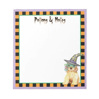 Cocker Spaniel Witch Notepad