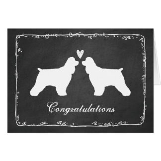Cocker Spaniels Wedding Congratulations Card