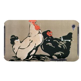 Cockerel and Hen (colour litho) Case-Mate iPod Touch Case