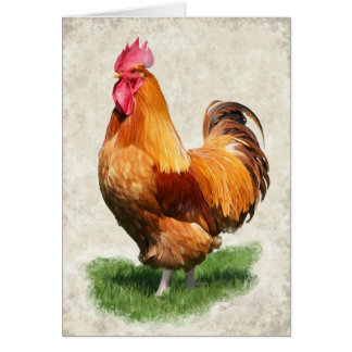 Cockerel Card