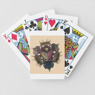 cockerel fractal style cuscini e wallclock bicycle playing cards