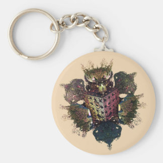 cockerel fractal style cuscini e wallclock key ring