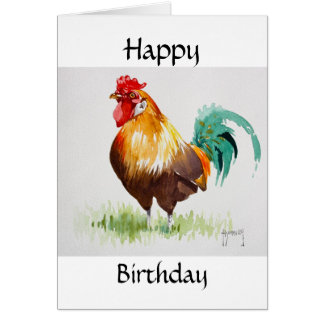 Cockerel Happy Birthday Card
