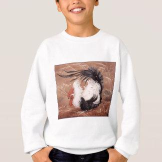 Cockerel in the wind sweatshirt