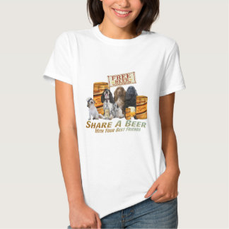 Cocker's Share A Beer With Your Best Friend Tshirts