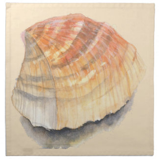 Cockle seashell, orange and yellow from the Beach Napkin