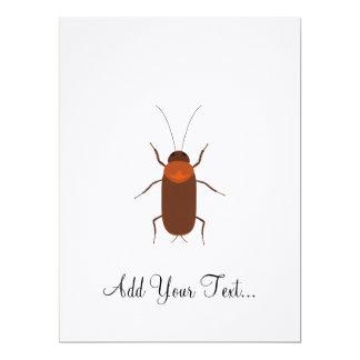 Cockroach 17 Cm X 22 Cm Invitation Card