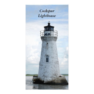 Cockspur Lighthouse Tybee Island Ga. photo card