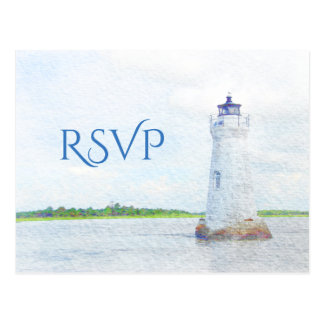 Cockspur Lighthouse Watercolor RSVP Postcard
