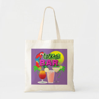 Cocktail Bar Exotic Tropical Summer Sun Graphic Tote Bag