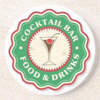 Cocktail Bar Sandstone Drink Coaster