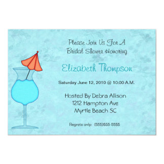 "Cocktail  Bridal Shower Invitation 5"" X 7"" Invitation Card"