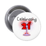 Cocktail Celebrating 21 Tshirts and Gifts Badges