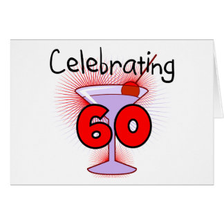 Cocktail Celebrating 60 Tshirts and Gifts Greeting Card