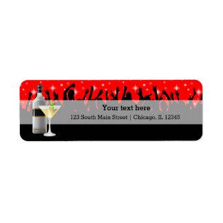Cocktail * choose background color return address label