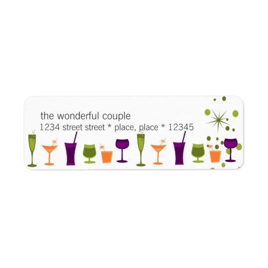 Cocktail Concoctions Return Address Label