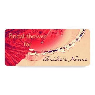 Cocktail glass bridal shower invite