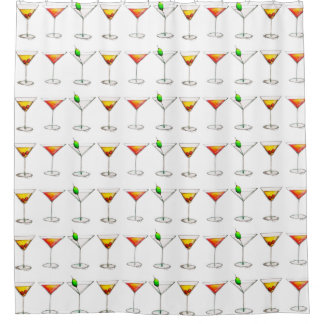 Cocktail Glass Mixed Drink Martini Cosmopolitan Shower Curtain