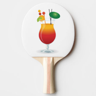 COCKTAIL GLASS PING PONG PADDLE