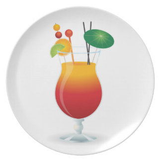 COCKTAIL GLASS PLATE