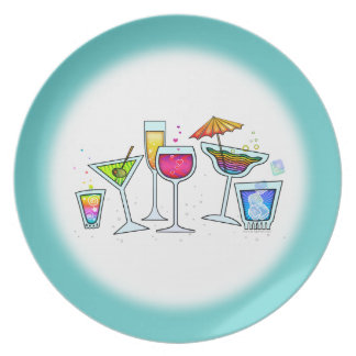 COCKTAIL GLASSES DESIGNER PLATE