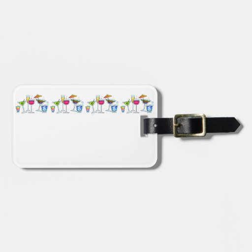 COCKTAIL GLASSES LUGGAGE TAG