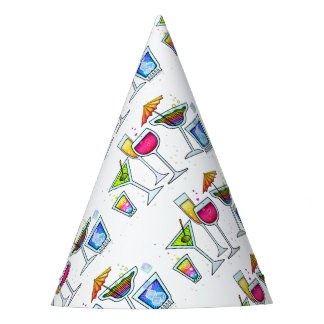 COCKTAIL GLASSES PARTY HAT
