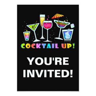 COCKTAIL GLASSES UP PARTY INVITATION