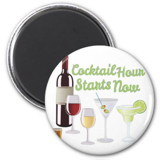 Cocktail Hour 6 Cm Round Magnet