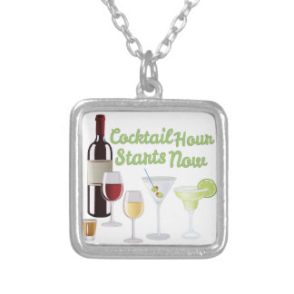 Cocktail Hour Silver Plated Necklace