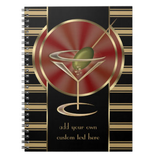Cocktail Lounge Spiral Note Book