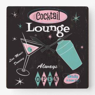 Cocktail Lounge Wall Clock