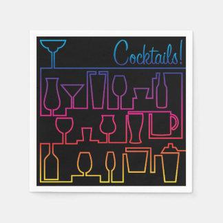 Cocktail maze paper napkins