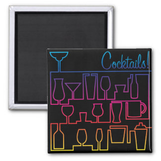 Cocktail maze square magnet