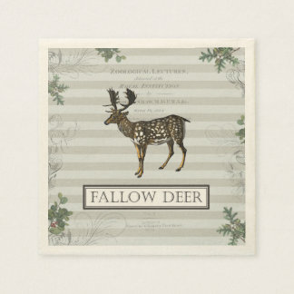 Cocktail napkin with Fallow Deer Disposable Napkin