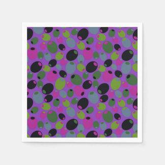 """Cocktail napkins with """"olives"""" design paper napkin"""