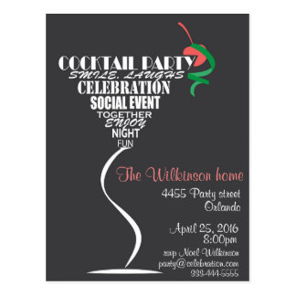Cocktail Party invitation card design
