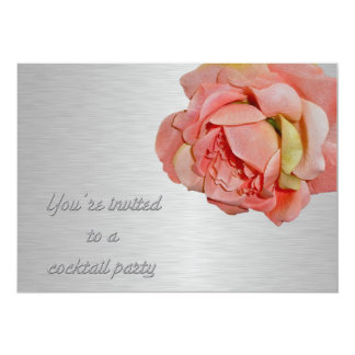 Cocktail Party Invitation Rose & Chrome