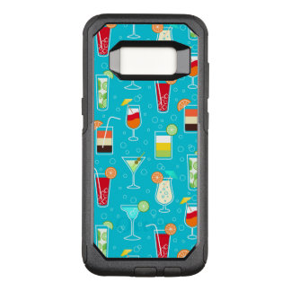 Cocktail Pattern on Teal Background OtterBox Commuter Samsung Galaxy S8 Case