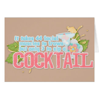 Cocktail quote note card