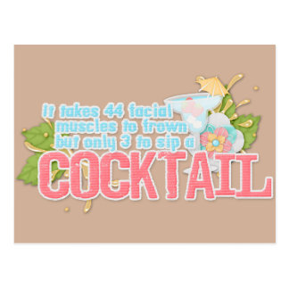 Cocktail quote postcard
