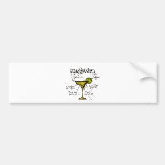 Cocktail Recipe Margarita Bumper Sticker